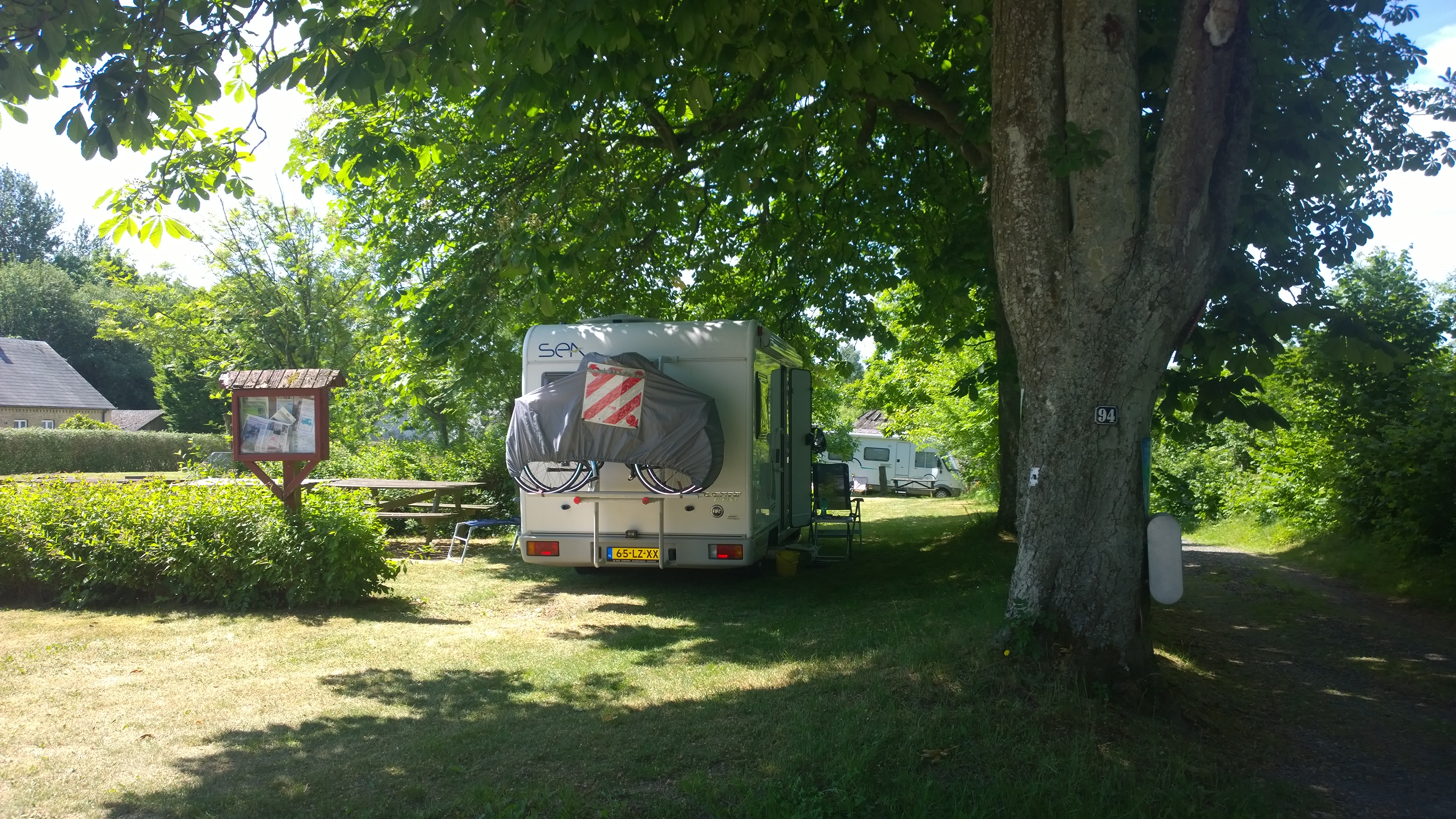 Visitors in mobile home / camper van at our place